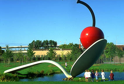 Spoonbridge and Cherry (collaboration with van Bruggen), 1988 - Claes Oldenburg