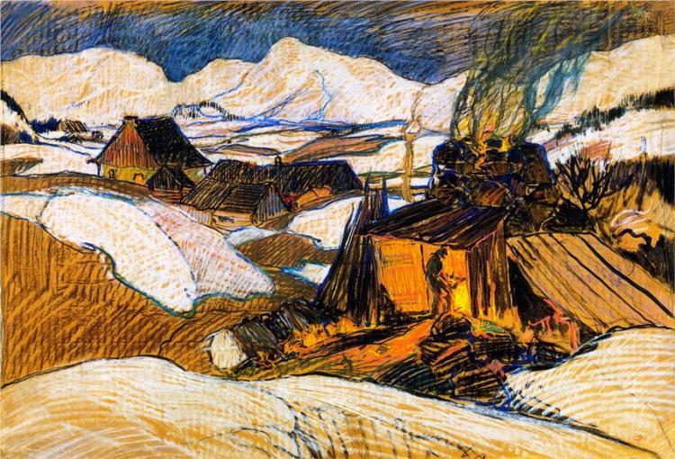 Lime Kiln, Baie-Saint-Paul, 1926 - Clarence Gagnon