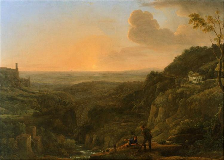 A view of the Roman Campagna from Tivoli, 1644 - 1645 - Claude Lorrain