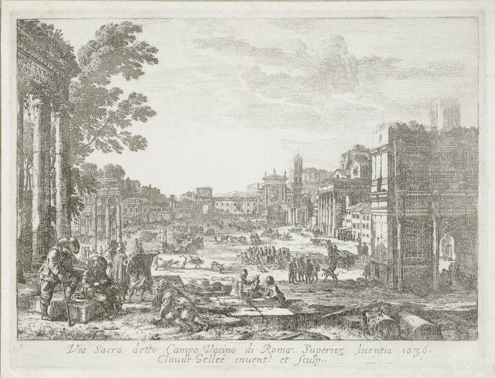 Campo Vaccino (Forum Romanum), 1636 - Claude Lorrain