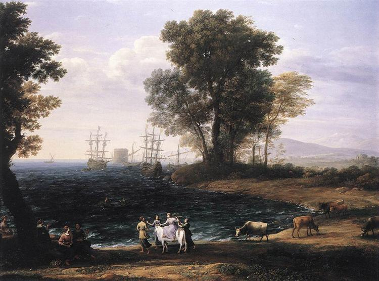 Coast Scene with the Rape of Europa, 1667 - Claude Lorrain