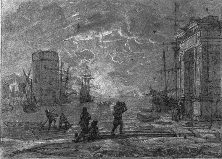 Harbour Scene - Claude Lorrain