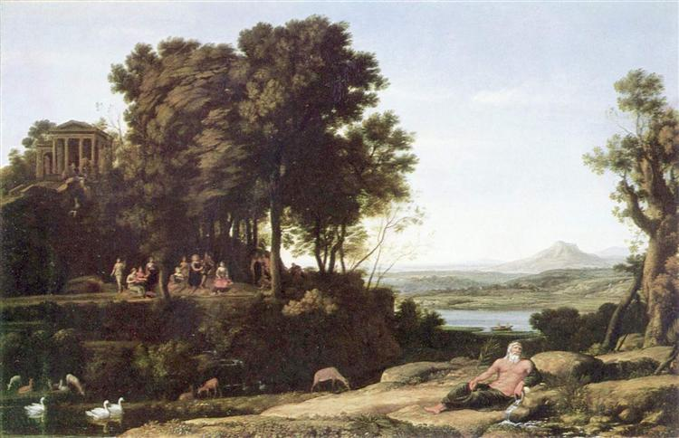 Landscape with Apollo and the Muses, 1652 - Клод Лоррен