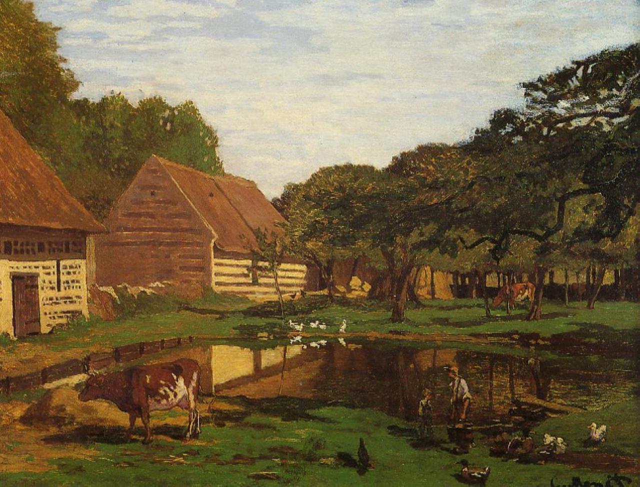 A Farmyard in Normandy, 1863