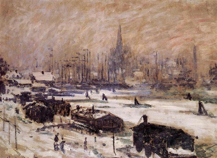 Amsterdam in the Snow, 1874 - Claude Monet