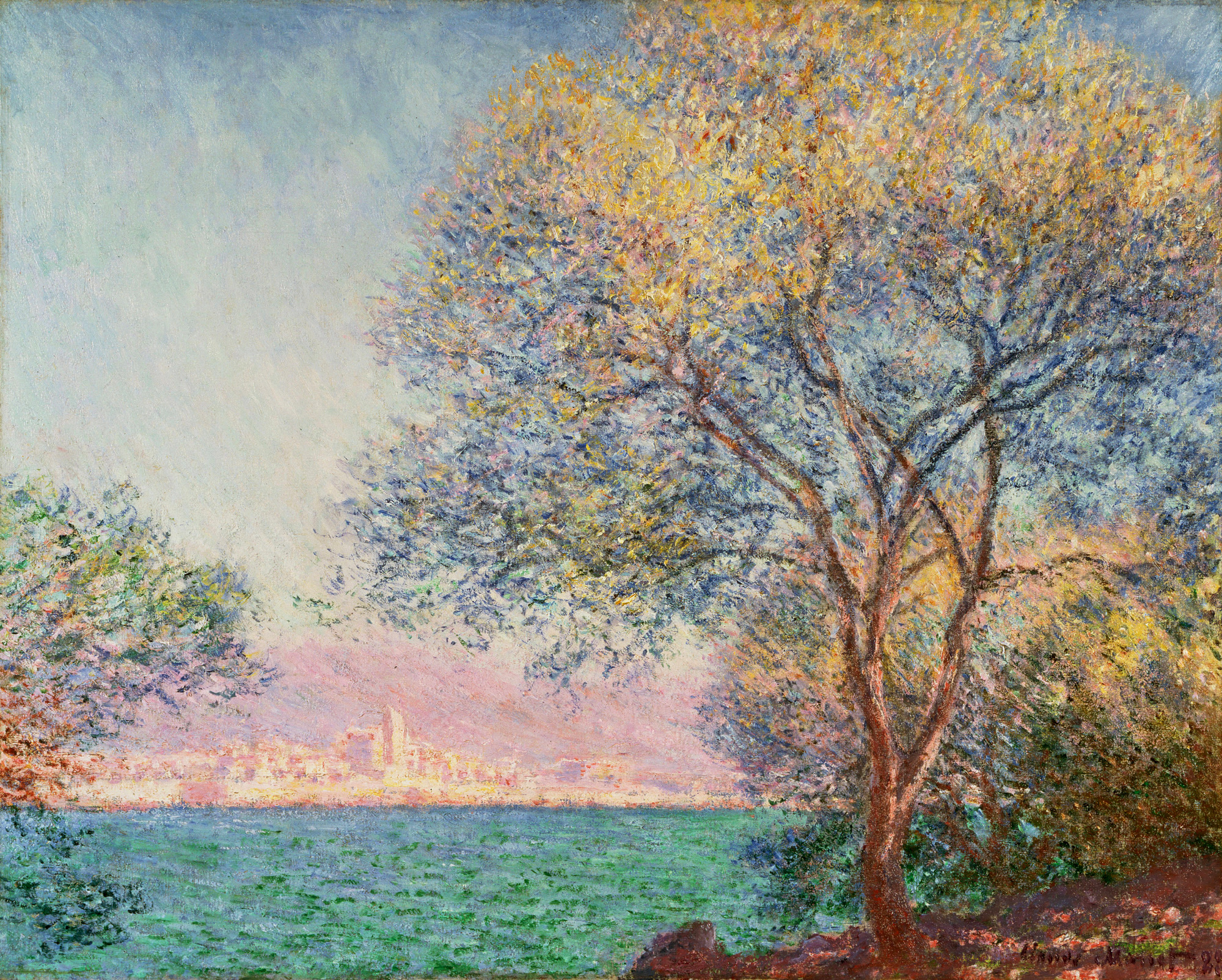 Antibes in the morning 1888 claude monet for Claude monet artwork