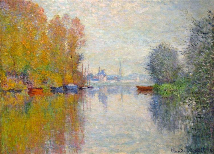 Autumn on the Seine at Argenteuil, 1873 - Claude Monet