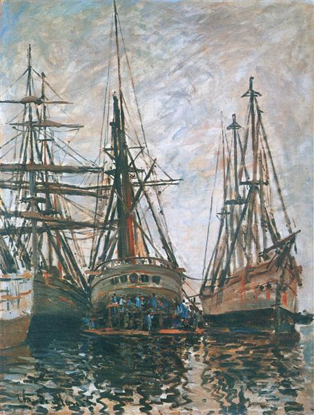 Boats on Rapair, 1873 - Claude Monet