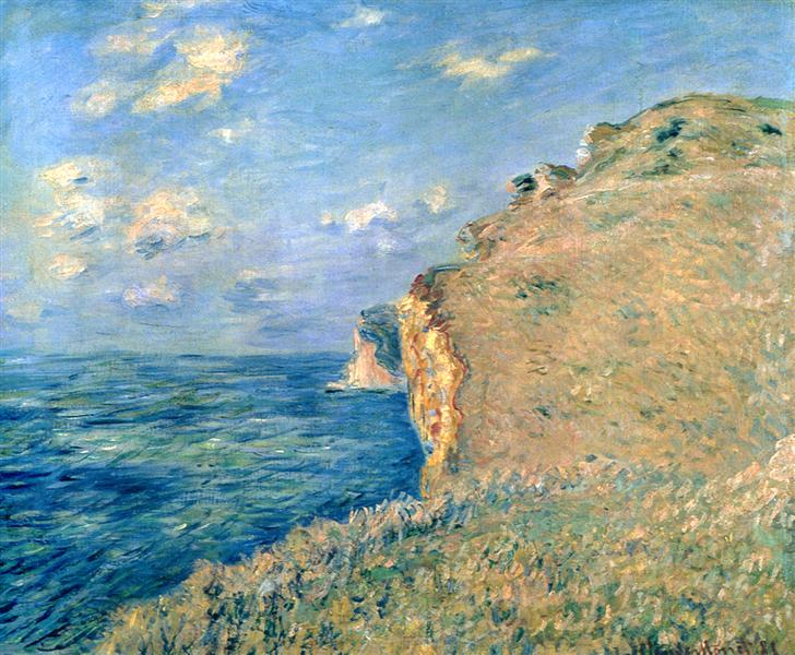 Cliff at Fecamp, 1881 - Claude Monet