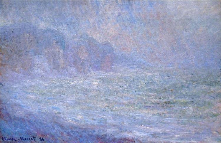 Cliffs at Pourville, Rain, 1886 - Claude Monet