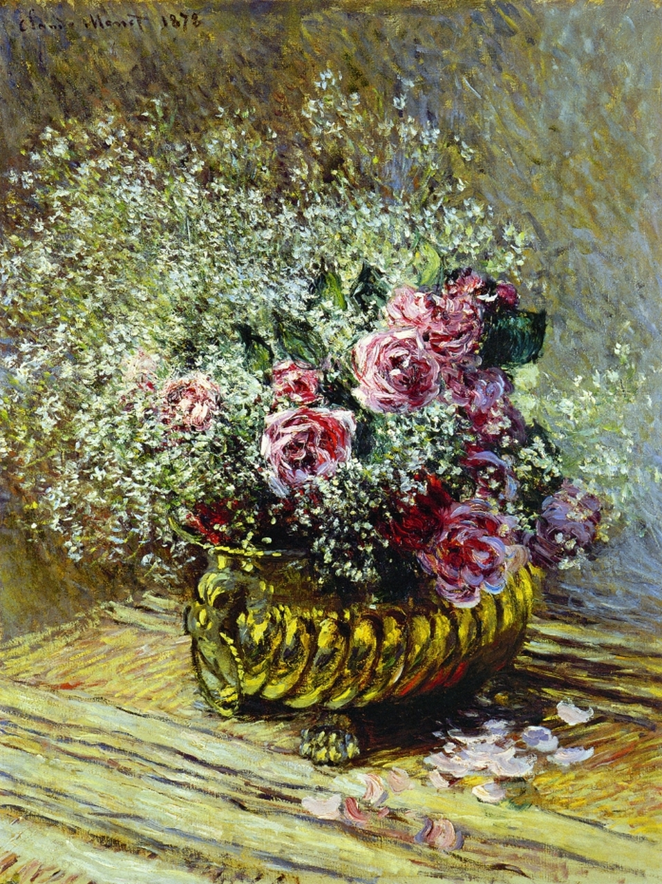 flowers in a pot 1878 claude monet. Black Bedroom Furniture Sets. Home Design Ideas