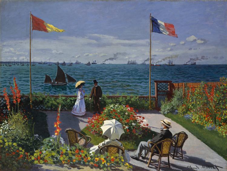Garden at Sainte-Adresse, 1867 - Claude Monet