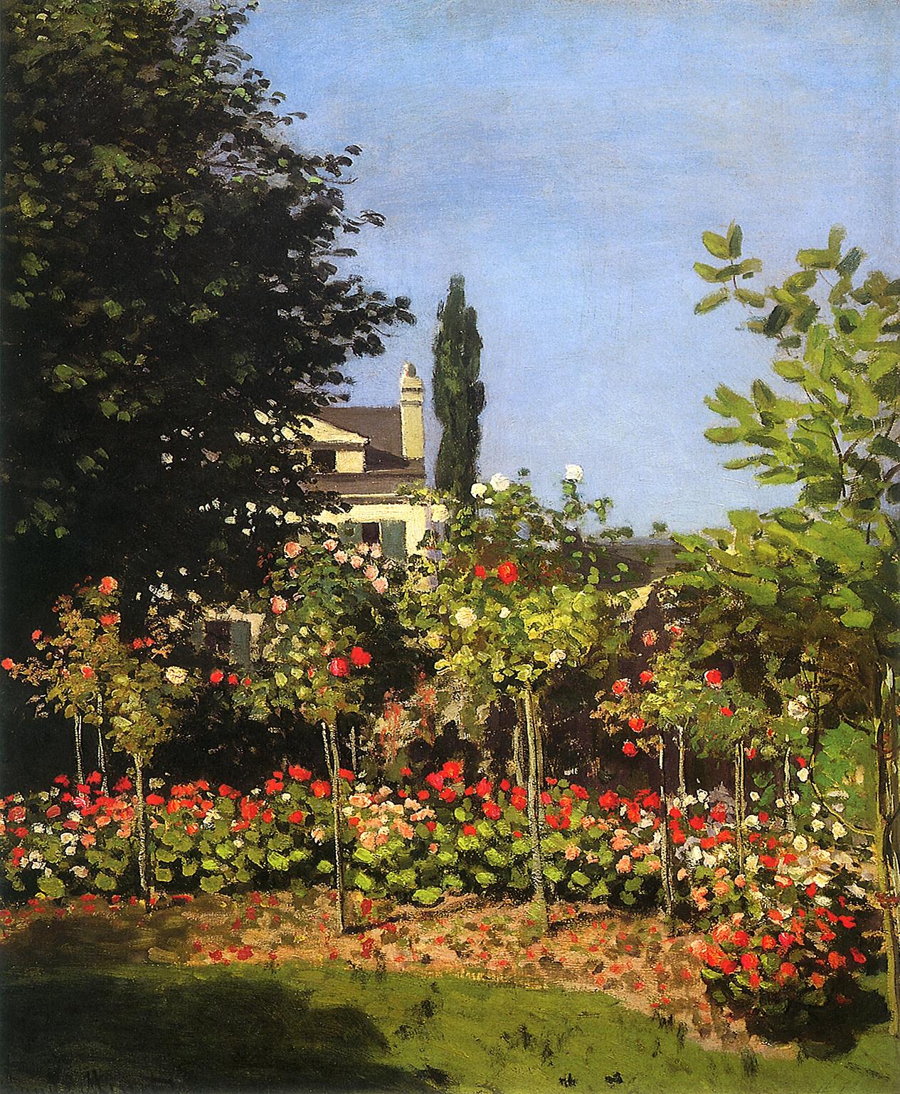 Garden in Bloom at Sainte-Addresse, 1866