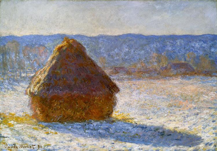 Grainstack, Snow Effect, Morning, 1891 - Claude Monet
