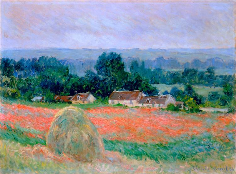 Haystack at Giverny, 1886 - Claude Monet
