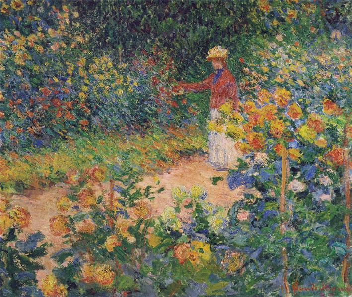 In the Garden, 1895 - Claude Monet
