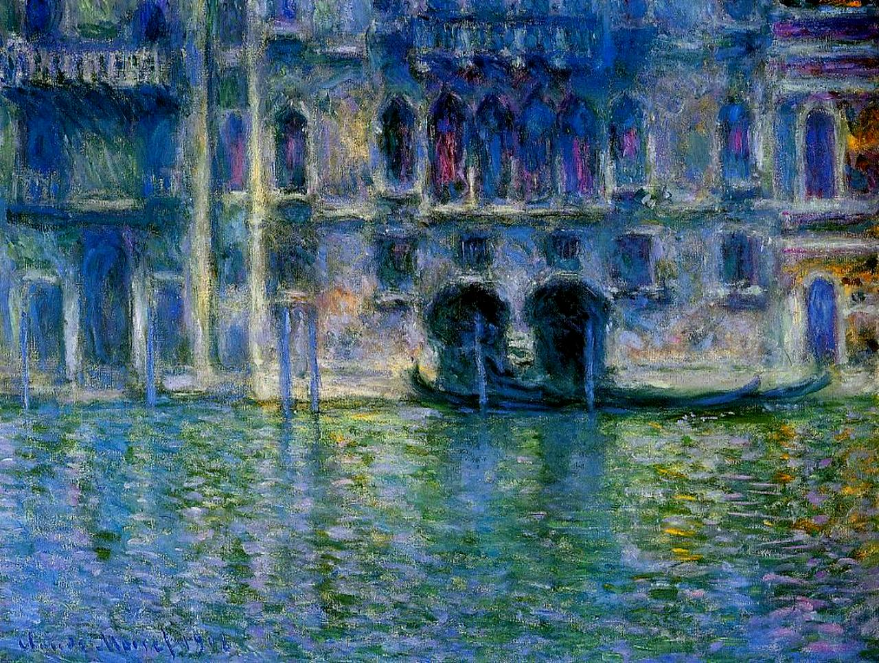 Palazzo da Mula at Venice by Claude Monet, 1908