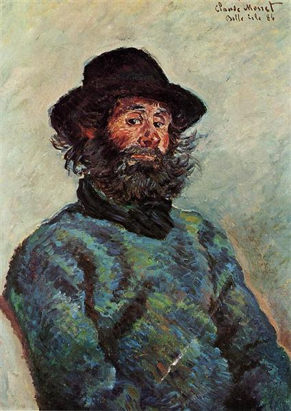 Portrait Of Poly Fisherman At Kervillaouen 1886 Claude