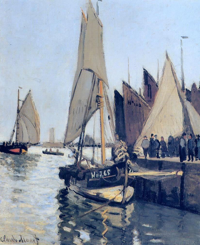 Sailing Boats at Honfleur, 1866