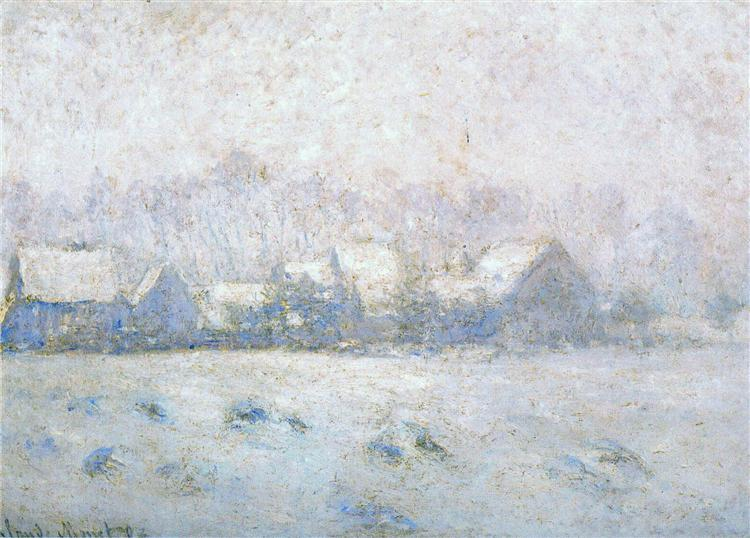 Snow Effect, Giverny, 1892 - 1893 - Claude Monet
