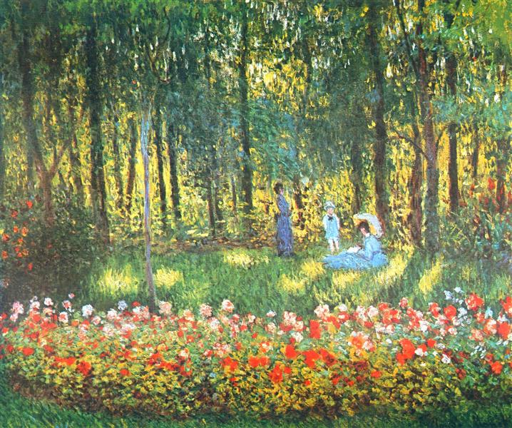 The Artist's Family in the Garden, 1875 - Claude Monet