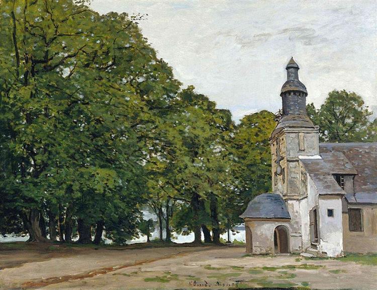 The Chapel Notre-Dame de Grace at Honfleur - Claude Monet