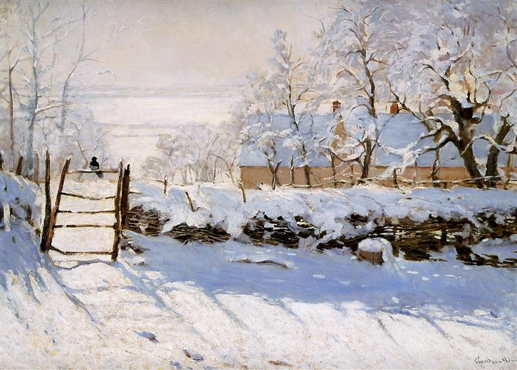 The Magpie, 1869 - Claude Monet