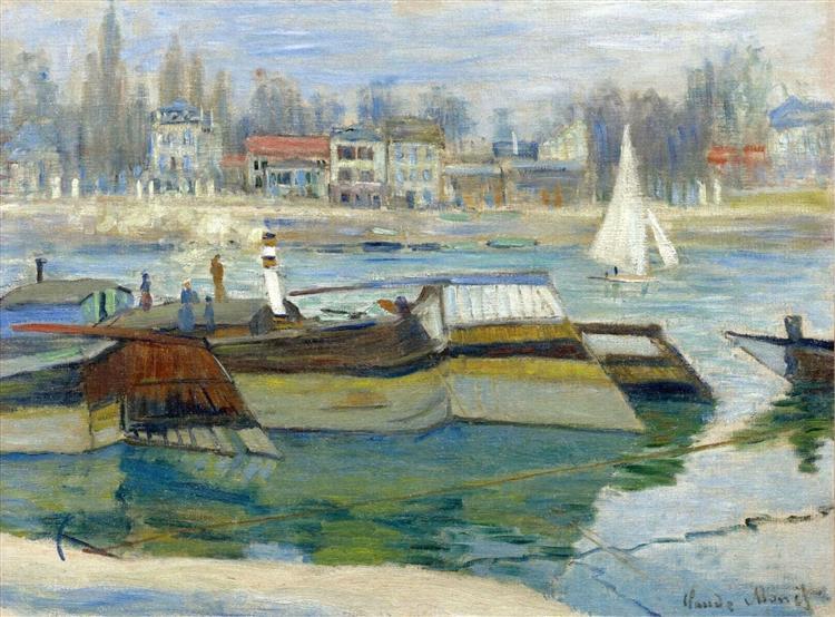 The Seine at Asnieres, 1873 - Claude Monet