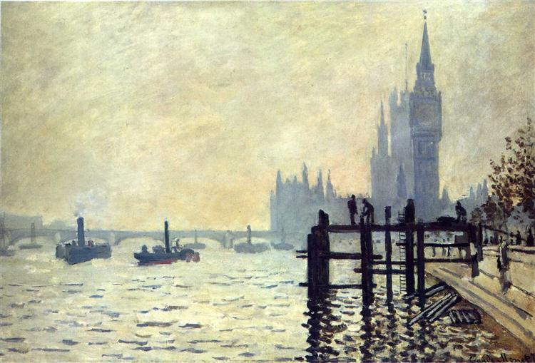 The Thames below Westminster, 1871 - Claude Monet