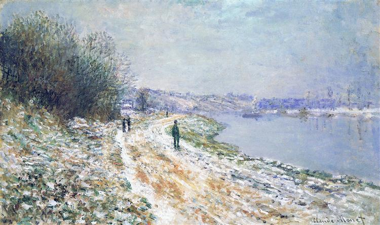 The Tow Path at Argenteuil, Winter, 1875 - Claude Monet