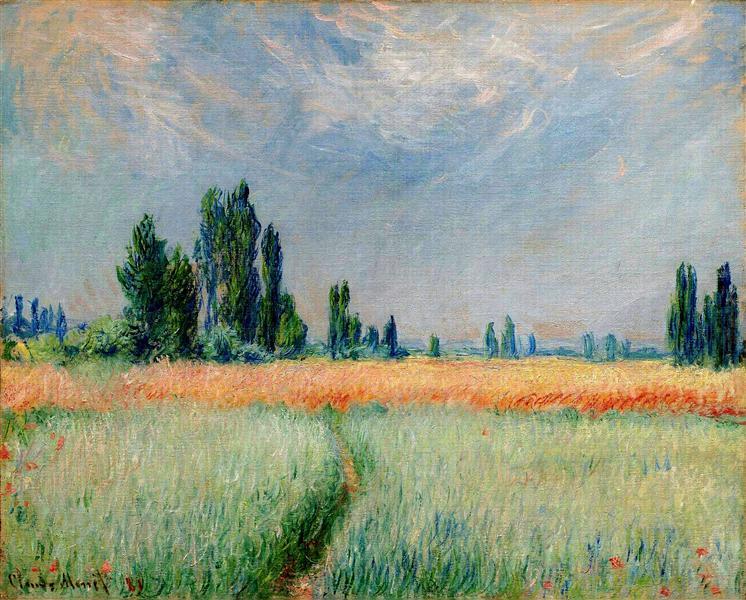 The Wheat Field, 1881 - Claude Monet