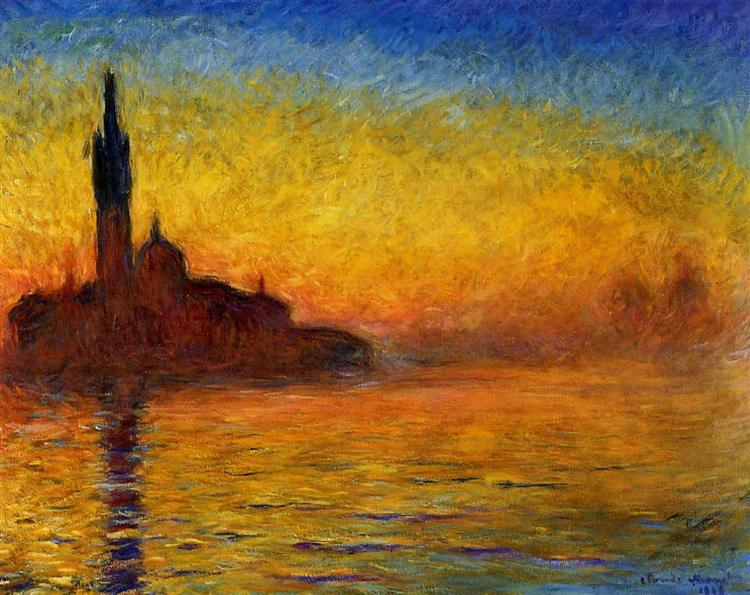 Twilight, Venice - Claude Monet