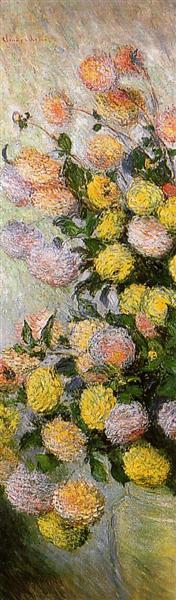 Vase of Dahlias, 1883 - Claude Monet