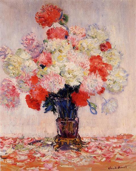 Vase of Peonies, 1882 - Claude Monet
