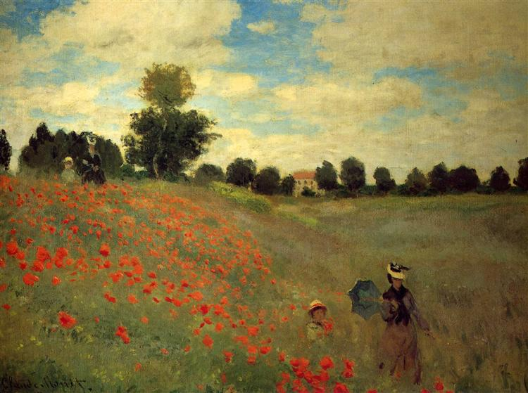 Wild Poppies, near Argenteuil - Claude Monet