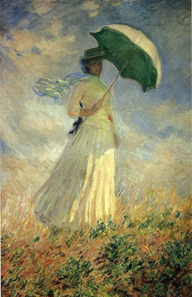 Woman with a Parasol, Facing Right (also known as Study of a Figure Outdoors (Facing Right)), 1886 - Claude Monet