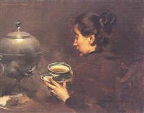 A Chávena de Chá - Columbano Bordalo Pinheiro