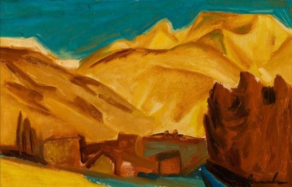 The Mountains at Vevey, Switzerland, 1926 - Constant Permeke