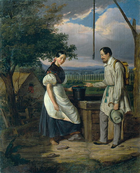 Scene at a Fountain