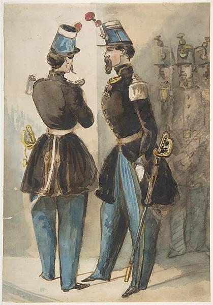 Officers of the Guard - Constantin Guys
