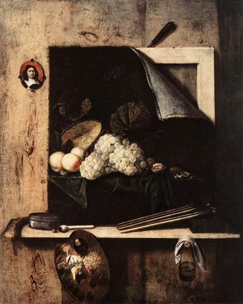 Still-Life with Self-Portrait, 1663 - Cornelis Gijsbrechts
