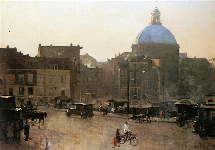 View Of The Singel, Amsterdam, With The Koepelkerk Beyond, 1940 - Корнеліс Вреденбург