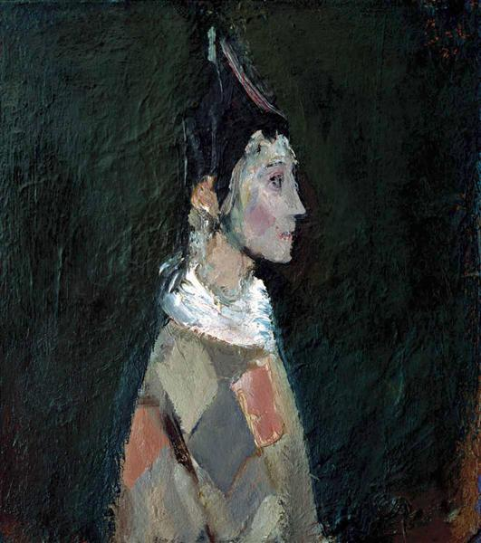 Portrait (Harlequin) - Corneliu Baba