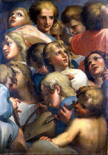 Group of angels from Corrège - Correggio