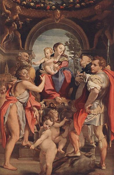 Madonna with St George, 1530 - 1532 - Correggio