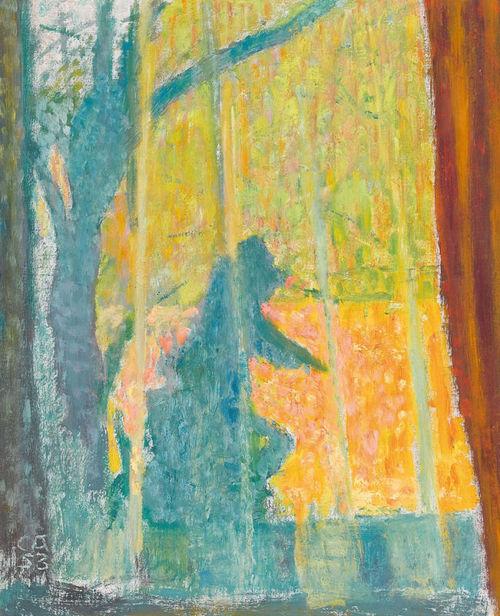 Herbstimpression durchs Fenster, 1953