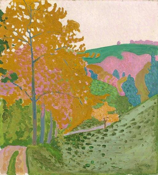 Herbstlandschaft - Herbst auf der Oschwand, 1906