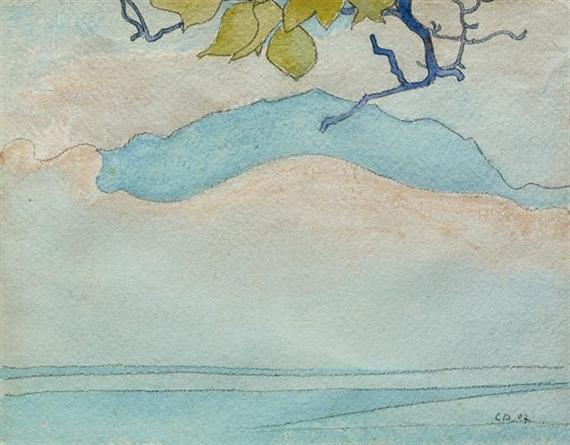Seelandschaft mit bergigem Ufer, 1907
