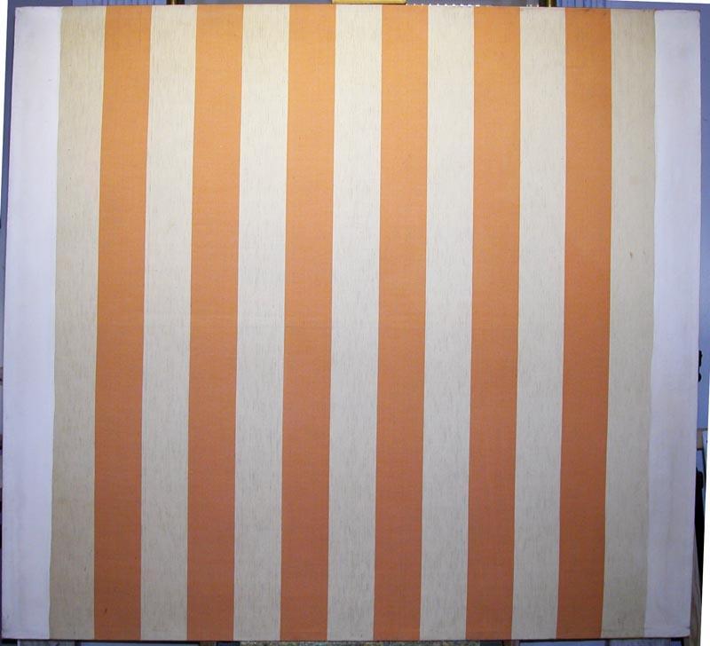 peinture acrylique blanche sur tissu ray blanc et orange 1967 daniel buren. Black Bedroom Furniture Sets. Home Design Ideas