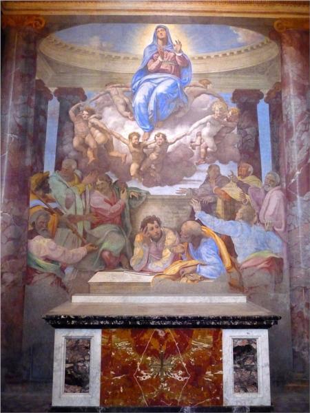 Assumption of the Virgin (della Rovere chapel, Trinita' dei Monti), c.1555 - Daniele da Volterra